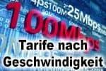 Internet Tarife nach Geschwindigkeit (DSL, VDSL, Kabel und Glasfaser)